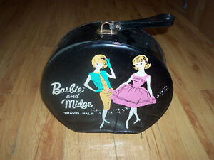 VINTAGE valise barbie and midge poupee travel pals 1963 mattel