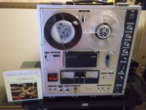Sony TC-630 reel to reel complete with glass cover mic's speaker