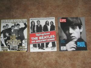 3 COLLECTIBLE BEATLES MAGAZINES IN EXCELLENT CONDITION