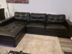 5 seat faux leather corner sofa