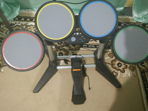 Rock Band 1 Drumset, Guitar, and Video Game (XBOX 360)