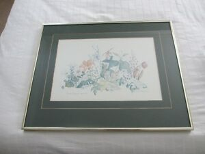Framed floral print 125th Canada anniversary