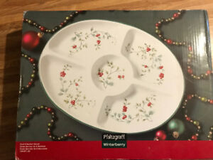 Christmas serving dish