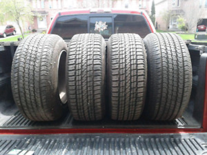 4 tires and rims 235 60 15