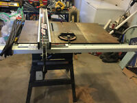 "10"" Rockwell Table Saw and 14"" King Wood Bandsaw"