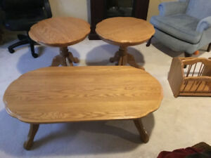 Coffee table and endtables
