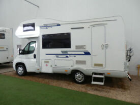ROLLERTEAM ATESSA 625 / 5 BERTH / 3500KG / BIKE RACK / SOLAR / TOW BAR / CRUISE