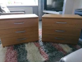 2 Pine bedside cabinets
