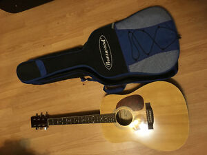 Burswood acoustic guitar with case