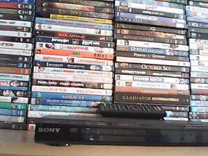 Amazing DVD Collection (108 DVD's + Sony DVD Player/Remote)