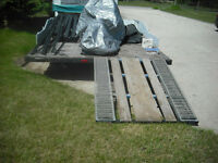 Homemade utility trailer with extras!