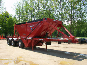 Tri-Axle Belly Dump Gravel Trailer