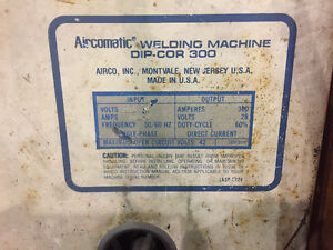 Welder - AIRCO DIP-COR 300 Cambridge Kitchener Area image 2
