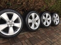 "Genuine Audi A3 17"" Alloy Wheels & 225 45 17 Tyres, VW, Seat, 5x112"