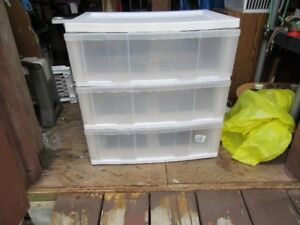 PLASTIC STORAGE DRAWERS - LARGE - REDUCED!!!!