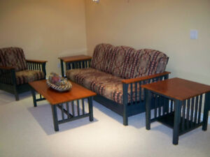 Complete  matching set of solid wood furniture