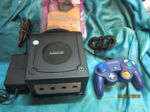 Gamecube with controller and memory card