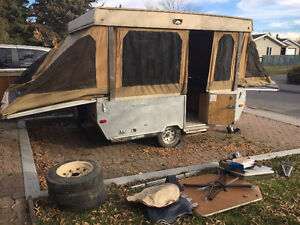 Starcraft tent pop up trailer or utility trailer, winter project