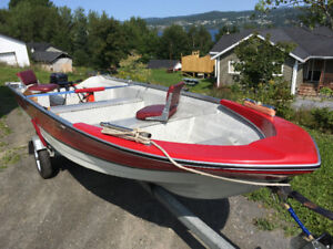 Boat motor and trailer for sale