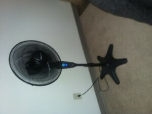 Standing floor fan with remote