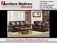BLOWOUT █ CLEARANCE SALE █ 3-piece Bonded leather sofa set