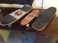 For Sale: 3 skateboards & 2 scooters