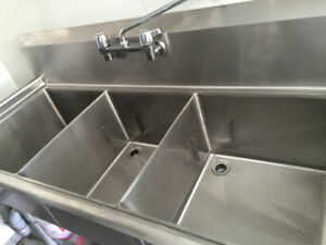 Stainless Steel Sink Setups, Fryers, baker racks and much more!