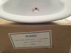 Brand new cloakroom basin