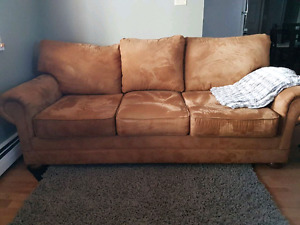 Queen size Microsuede Sofabed and Chair