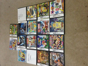 Nintendo 3ds with 18 games