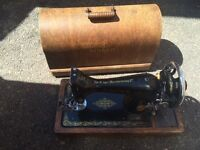 Singer sewing machine with domed lid
