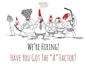 Waiting Staff Wanted - Absurd Bird Spitalfields - great rates of pay, plus 12.5% service charge