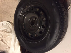 FOUR USED NOKIAN i3 185/70 R14 WINTER TIRES FOR SALE