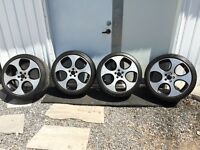 "Mags 18"" 5X100 225/40/z18 Volkswagen golf City style detroit"