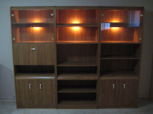 Book Case - Shelving - Wall Unit - 3 Section - Made in Canada