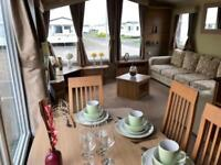 Luxury 6 berth static caravan on the Ayrshire coast at Sandylands