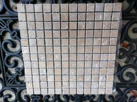 Mosaic tiles - light beige/mushroom