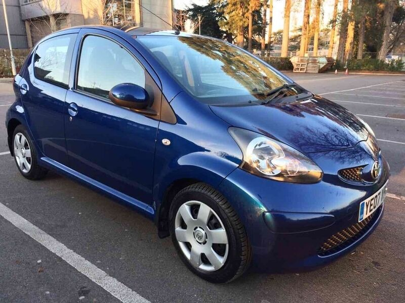 toyota aygo 1 0 vvt i blue 5dr blue 2007 in maidstone kent gumtree. Black Bedroom Furniture Sets. Home Design Ideas