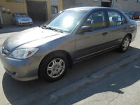 2005 Honda Civic S-EDITION Sedan,175000KM....