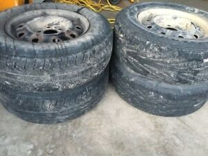 4 tires with rims. Tire size is 215/70/15. Came off a 2007 dodge