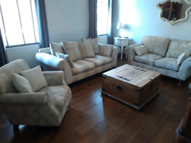 Three piece suite 3 seater, 2 seater sofa and chair