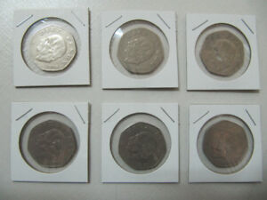 Classic Six Piece Lot Of Diez(10) Pesos Coins Years 1976 to 1980