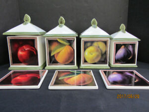 CANNISTERS and WALL PLAQUES - CERAMIC