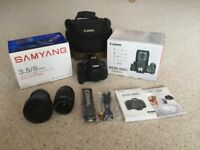 Cannon eos 600d digital camera with accessories