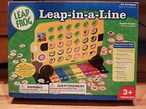 Leap frog learning game