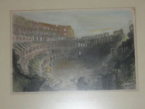 Framed original Bartlett print: The Coliseum at Rome Kingston Kingston Area image 2