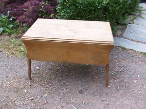 Antique Drop Leaf table 36 by 22 and 23 Inches Tall NOTE: