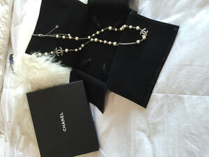 Chanel Pearls with crystal CC's