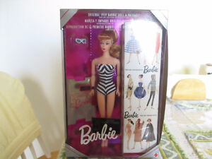 Barbie Doll - Original 1959 doll and package - 35th Anniversary