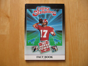 LARGE LOT OF 74 OLDER CFL FOOTBALL TEAM MEDIA GUIDES-YEARBOOKS